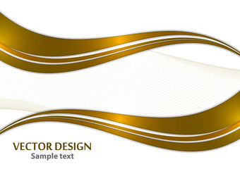 Abstract curved wavy lines with shadow, smooth stripe. Colorful shiny waves with lines created with the blend tool.