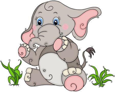 Elephant Sitting Cartoon Photos Royalty Free Images Graphics Vectors Videos Adobe Stock