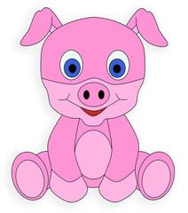 pig pink piglet pork animal cute drawing cartoon