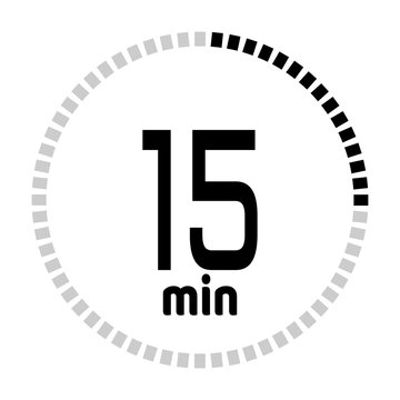 The minutes countdown timer