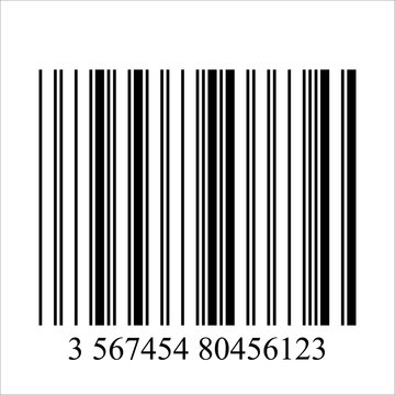 Barcode realistic icon.