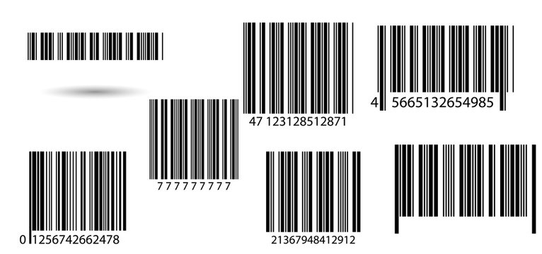 Set of barcodes.