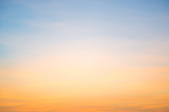 Beautiful cloudscape with blue sky and fluffy clouds at sunset
