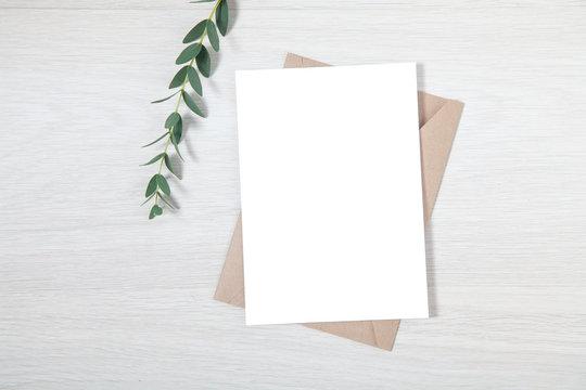 Wedding Invitation Mockup, Blank Party Invitation Card