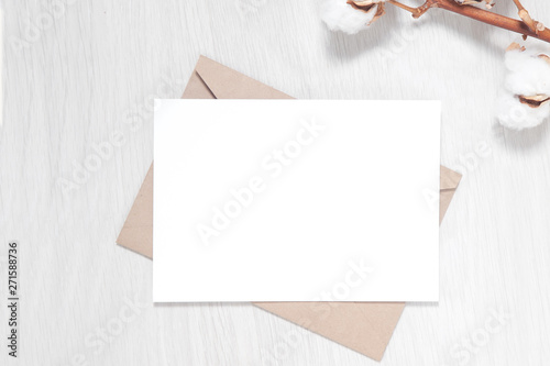 Wedding Invitation Mockup Card And Envelope Blank Party