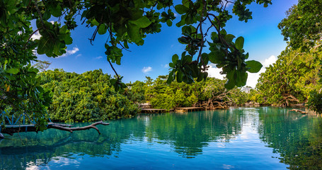 Obraz The Blue Lagoon, Port Vila, Efate, Vanuatu - fototapety do salonu