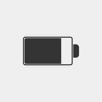 Battery life vector icon illustration sign