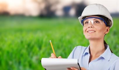 Occupation green environment engineer construction women built structure