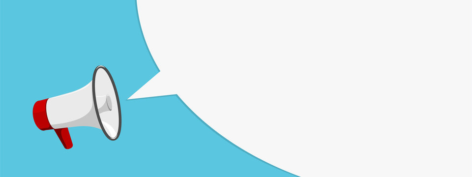 Megaphone on white. Megaphone flat. Megaphone vector. Megaphone illustration
