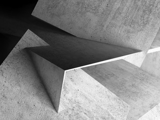 Fototapete - Abstract background, concrete 3d