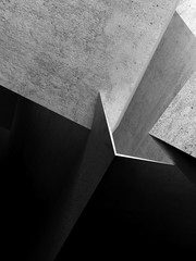 Fototapete - Abstract concrete structures 3 d