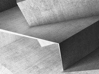 Fototapete - Abstract rough gray concrete 3d