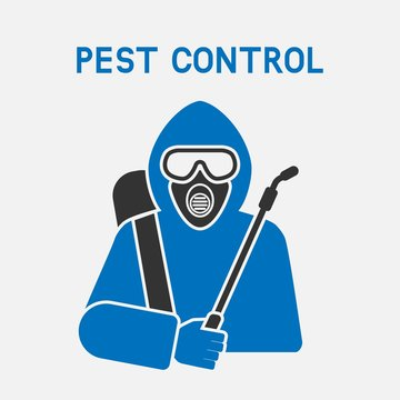 Pest Control Exterminator in protective suit