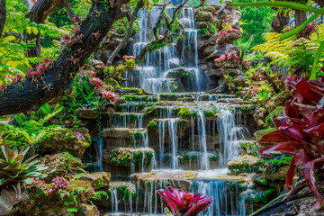 Recess Fitting Waterfalls Beautiful waterfall background, summer Thailand, Asian