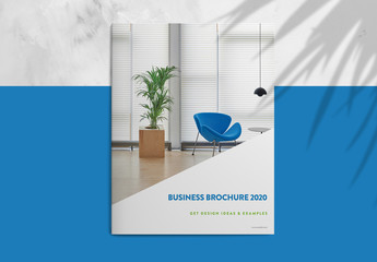 Business Brochure Layout with Blue and Green Accents