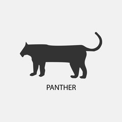 Panther vector icon illustration sign