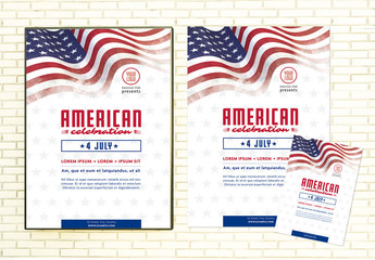 American Themed Party Poster and Flyer Layout