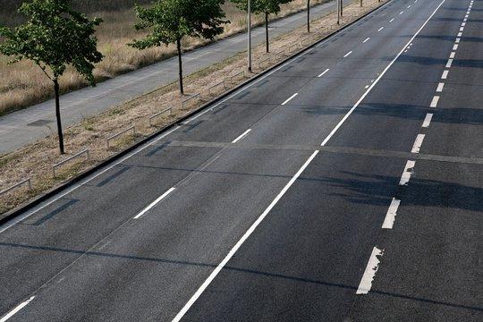 empty asphalt mountains