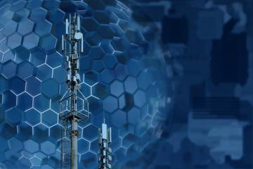 Base station network operator. 5G. 4G, 3G mobile technologies. Wall mural