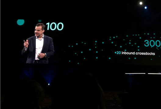 """Jeff Wilke, CEO of Amazon.com Inc's consumer business, speaks at the company's """"re:MARS"""" conference on artificial intelligence in Las Vegas"""