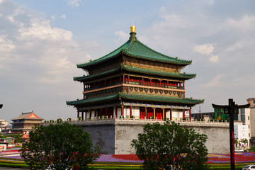 The classic architectures of Xian city of China. Fototapete