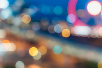 Light night city bokeh abstract background Fotomurales
