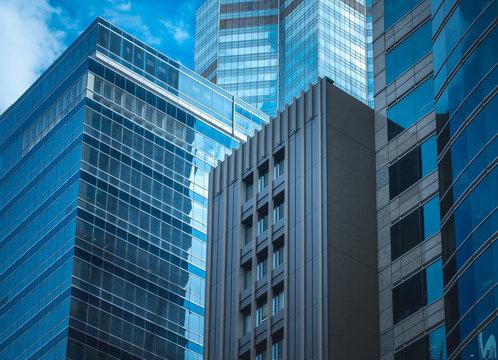 Hong Kong Commercial Building Close Up