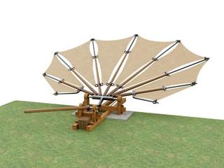 Device for testing beating wings by Leonardo da Vinci, France Manuscript 0088v.