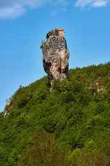 Katskhi pillar, Monastery on column, Georgia.