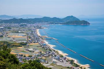 Coastline of Higashikagawa city in the seto inland sea ,Shikoku,Japan