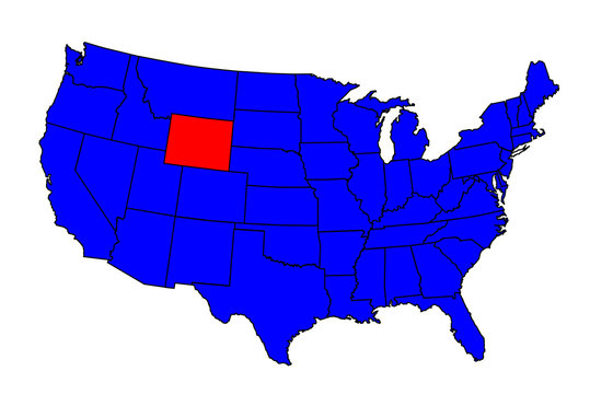 State of Wyoming Location