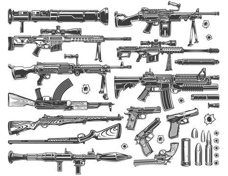 Vintage military elements set