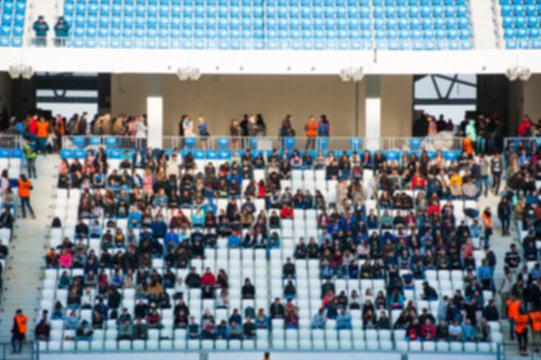 Blurred crowd of spectators on a stadium