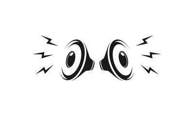 Loud speakers icon vector