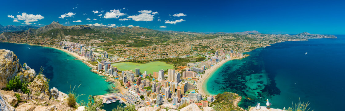 Calpe and beaches view