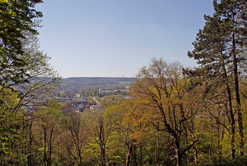 View over Aachen City from hill Lousberg