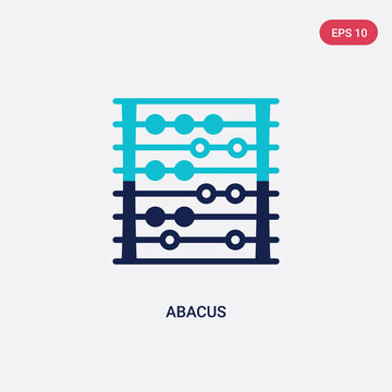 two color abacus vector icon from education concept. isolated blue abacus vector sign symbol can be use for web, mobile and logo. eps 10