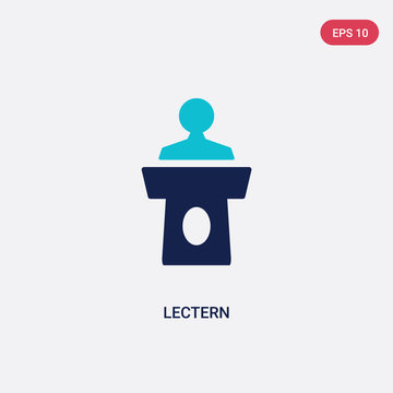 two color lectern vector icon from graduation and education concept. isolated blue lectern vector sign symbol can be use for web, mobile and logo. eps 10