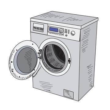 technique on a white background washing machine