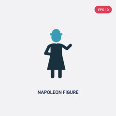 two color napoleon figure vector icon from people concept. isolated blue napoleon figure vector sign symbol can be use for web, mobile and logo. eps 10
