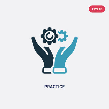 two color practice vector icon from productivity concept. isolated blue practice vector sign symbol can be use for web, mobile and logo. eps 10