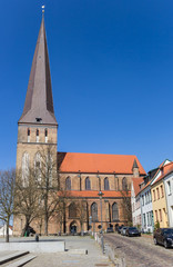 Fotomurales - Historic Petrikirche church in Hanseatic city Rostock, Germany