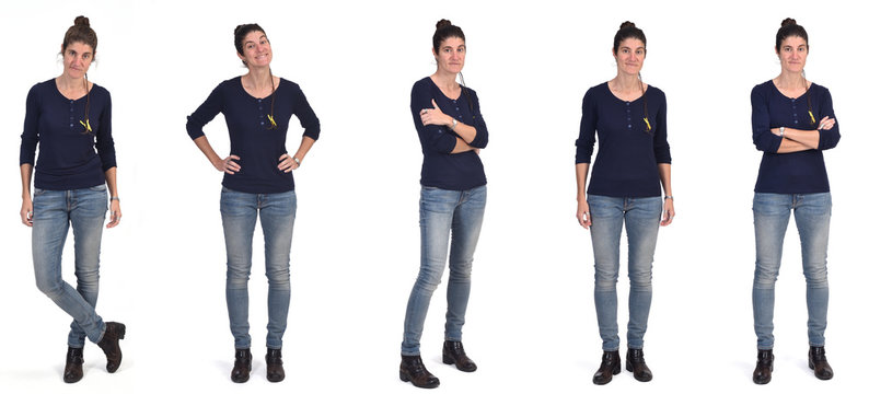 woman with different ways of standing