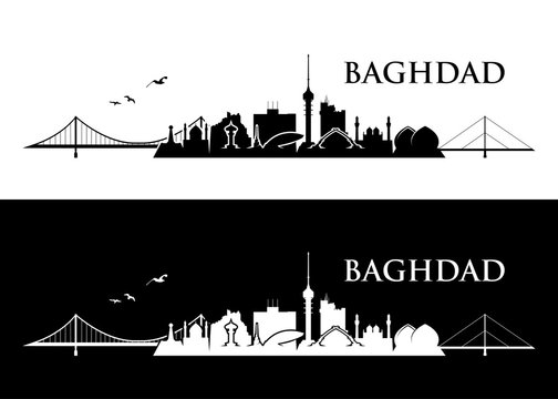 Baghdad skyline - Iraq - vector illustration - Vector