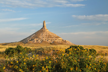 Chimney Rock National Historic Site, western Nebraska, USA