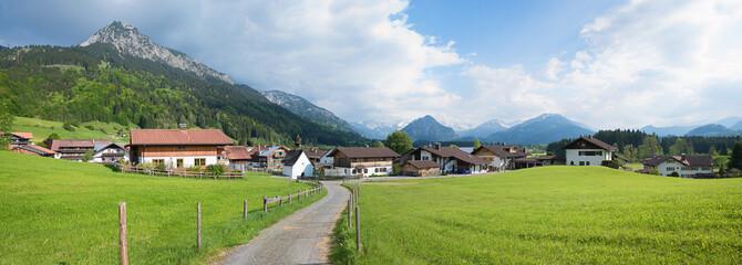 Ferienort Rubi bei Oberstdorf mit Spazierweg