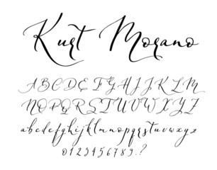 Brush Script Font Alphabet