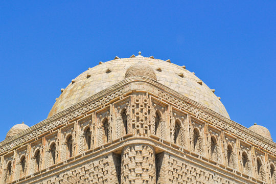 The Samanid mausoleum is located in the historical urban nucleus of the city of Bukhara, Uzbekistan.