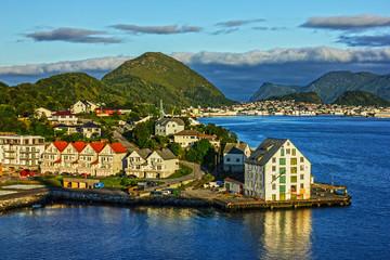 Norway. Alesund town, Norwegian fjords