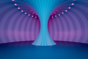 neon light circles tunnel background